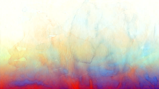 Aquarell Hintergrund in Orange, Blau