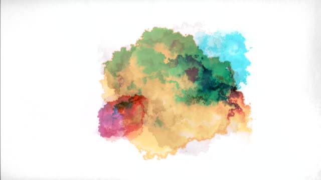 watercolor paint drops