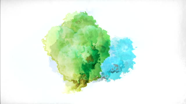 watercolor paint drops - macchiato video stock e b–roll