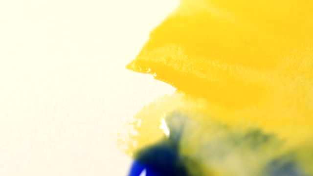 watercolor painting - giallo video stock e b–roll