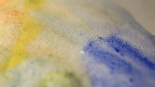 watercolor painting - paintbrush stock videos & royalty-free footage