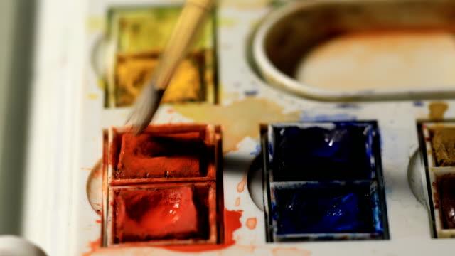 Aquarell Malerei mit Pinsel