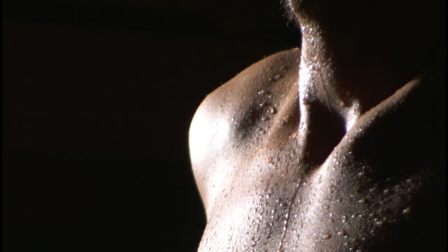 waterdrops on the skin, sauna - sauna stock videos & royalty-free footage