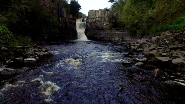 waterfall and river - county durham england stock videos & royalty-free footage