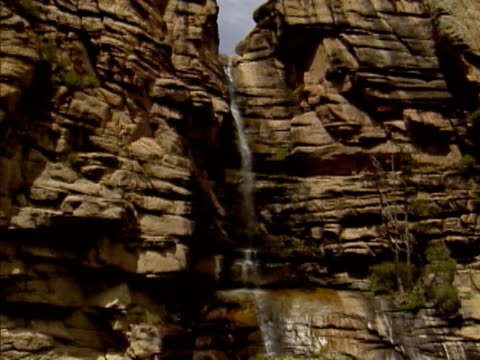 waterfall and stream in black canyon, colorado - black canyon stock videos & royalty-free footage