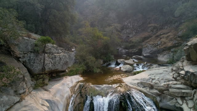 waterfall at tule river - sequoia national park stock videos & royalty-free footage