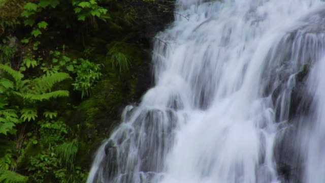 Waterfall Close Up With Slow Shutter