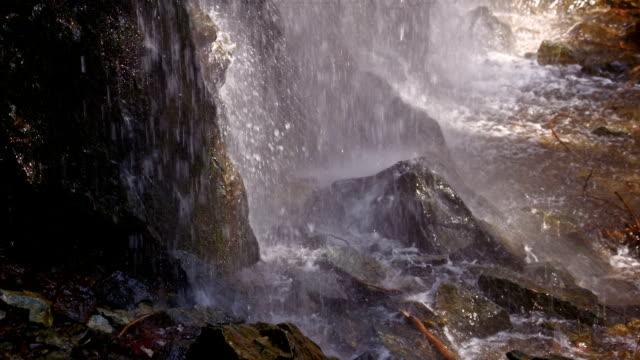 SLO MO Waterfall crashing over rocks