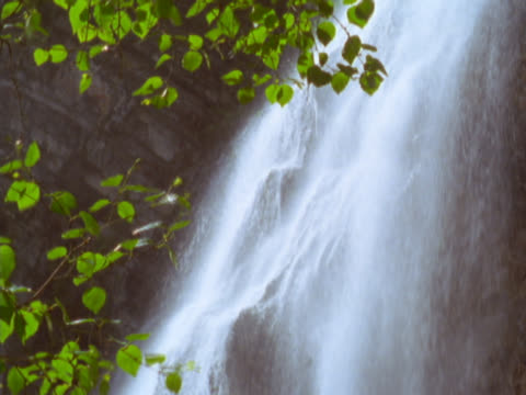 waterfall flowing over cliff - mpeg video format stock videos & royalty-free footage