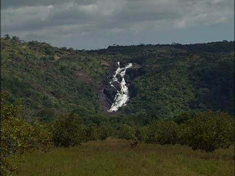 vídeos y material grabado en eventos de stock de waterfall in a forest - punto de referencia natural