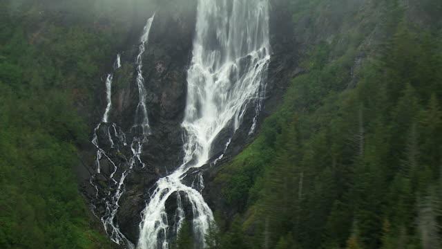 waterfall in alaska - kenai peninsula stock videos & royalty-free footage