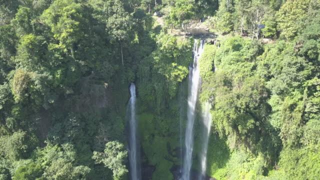 vídeos de stock e filmes b-roll de waterfall in bali / indonesia - queda de água