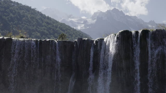 4K, Waterfall in Blue Moon Valley national park at China.