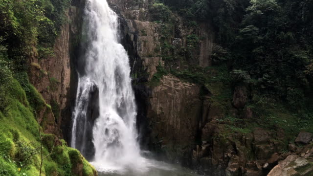 waterfall in deep forest at Khao Yai National Park, Thailand