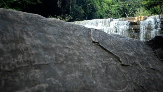 waterfall in evening
