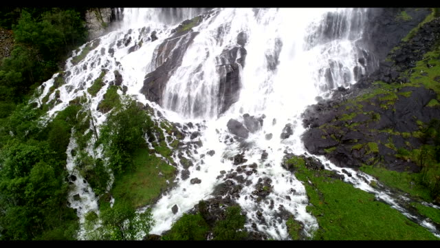 Waterfall in  fjord Norway