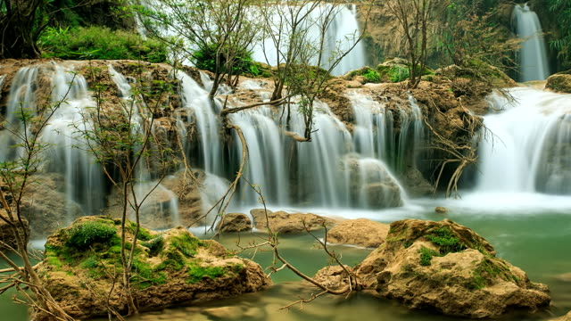 waterfall in forest. - named wilderness area stock videos & royalty-free footage