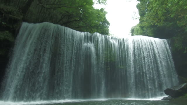 la waterfall in forest - 滝点の映像素材/bロール