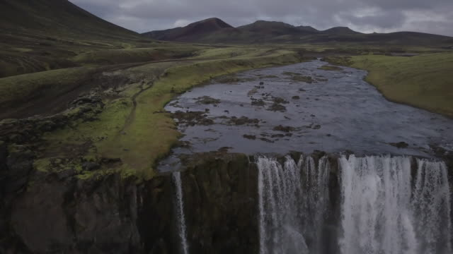 Waterfall in Iceland's Central Highlands