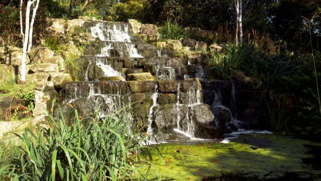 wasserfall im londoner regent es park queen mary es garden - gärtnerisch gestaltet stock-videos und b-roll-filmmaterial
