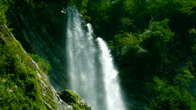 waterfall in mountains - flowing water stock videos & royalty-free footage