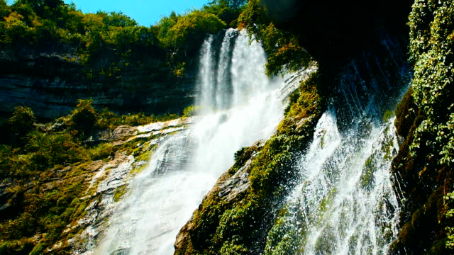 waterfall in nature - flowing water stock videos & royalty-free footage