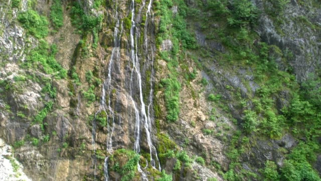 waterfall in prokletije mountains (albanian alps; accursed mountains) in kosovo - off the beaten path stock videos & royalty-free footage