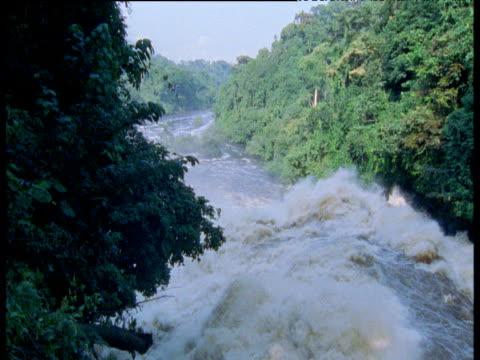 Waterfall in spate