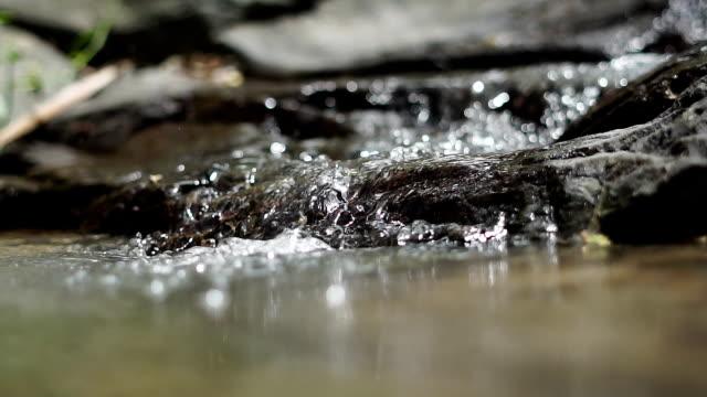 stockvideo's en b-roll-footage met waterval in het regenwoud. slow-motion. - langzaam