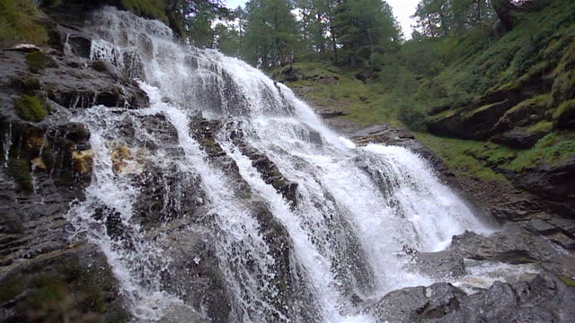 waterfall in the slow motion