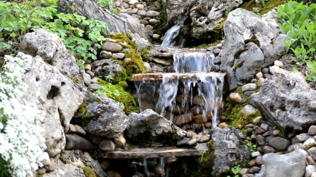 Waterfall in to backyard