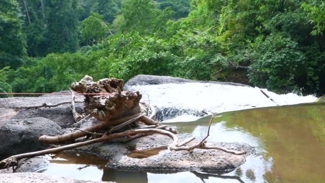 Waterval in het tropisch regenwoud. Reizen in bos
