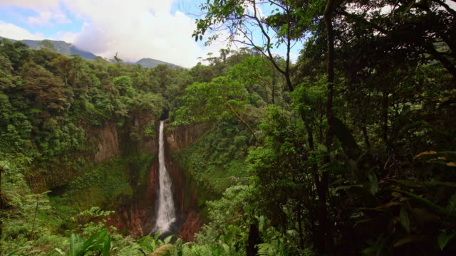 ws waterfall la fortuna in costa rica - costa rica stock videos & royalty-free footage