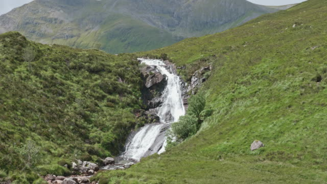 waterfall landscape on skye island, scotland - hebrides stock videos & royalty-free footage