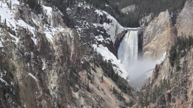 hd waterfall landscape yellowstone national park - yellowstone river stock videos and b-roll footage