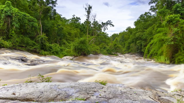 waterfall mae ya, thailand; time lapse - named wilderness area stock videos & royalty-free footage
