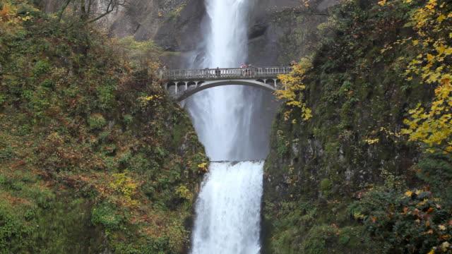 vídeos y material grabado en eventos de stock de cascadas de multnomah falls in oregon - cascadas de multnomah