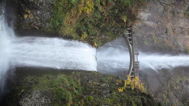 vídeos y material grabado en eventos de stock de cascadas de multnomah falls oregon, vertical - cascadas de multnomah