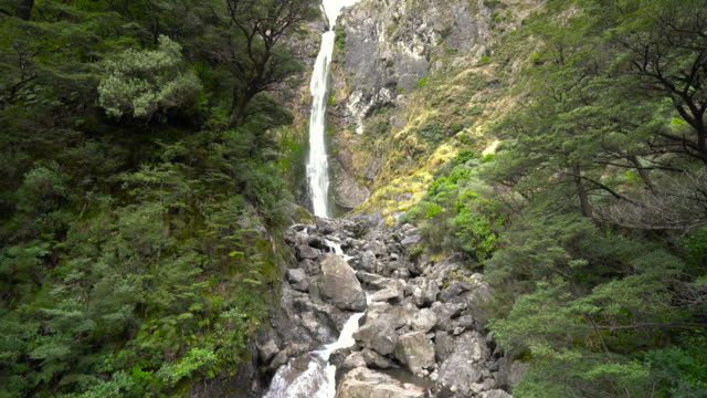waterfall new zealand. - new zealand culture stock videos & royalty-free footage