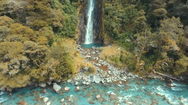 waterfall newzealand - mineral stock videos & royalty-free footage