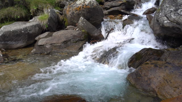 waterfall of a stream - ruscello video stock e b–roll