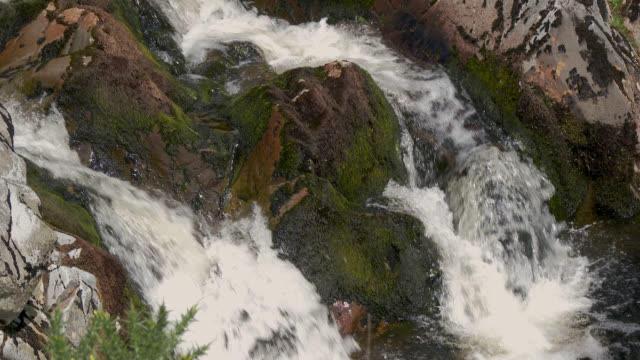 waterfall on a small scottish river on a summer afternoon - galloway scotland stock videos & royalty-free footage