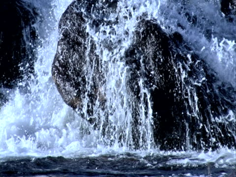 waterfall on rock stone background, flows of water - named wilderness area stock videos & royalty-free footage