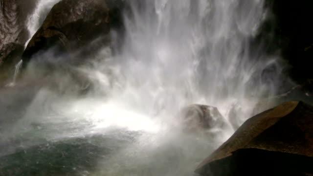 hd: waterfall splashing - merced river stock videos & royalty-free footage