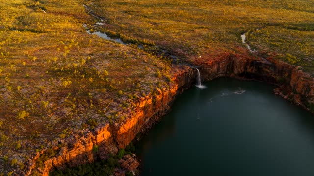 waterfall sunset, the kimberley australia - wilderness stock videos & royalty-free footage