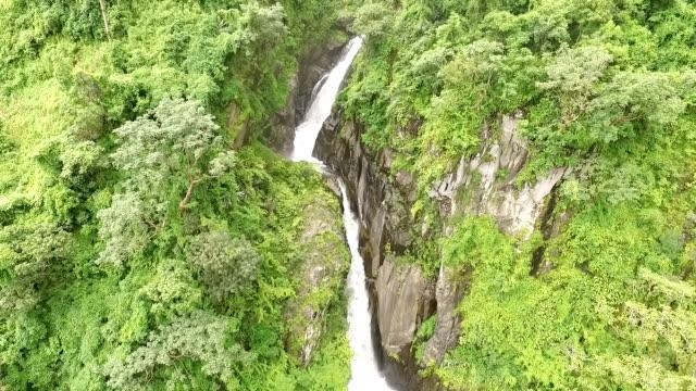 waterfall tacana volcano - guatemala stock videos & royalty-free footage