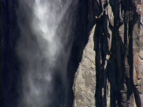 waterfall texture, yosemite national park - upper yosemite falls stock videos & royalty-free footage