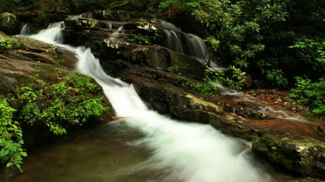 vídeos y material grabado en eventos de stock de cascada lapso de tiempo de - delaware water gap