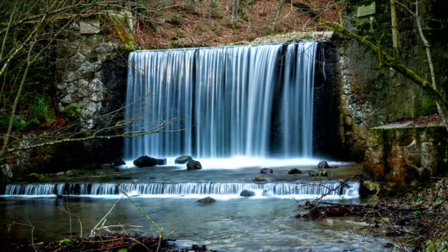 Waterfall, time lapse