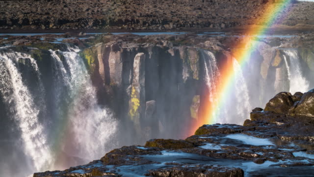 Waterfall with Rainbow - Dettifoss Iceland